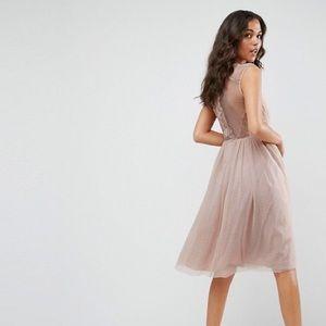 ASOS Midi Dress in Dusty Rose
